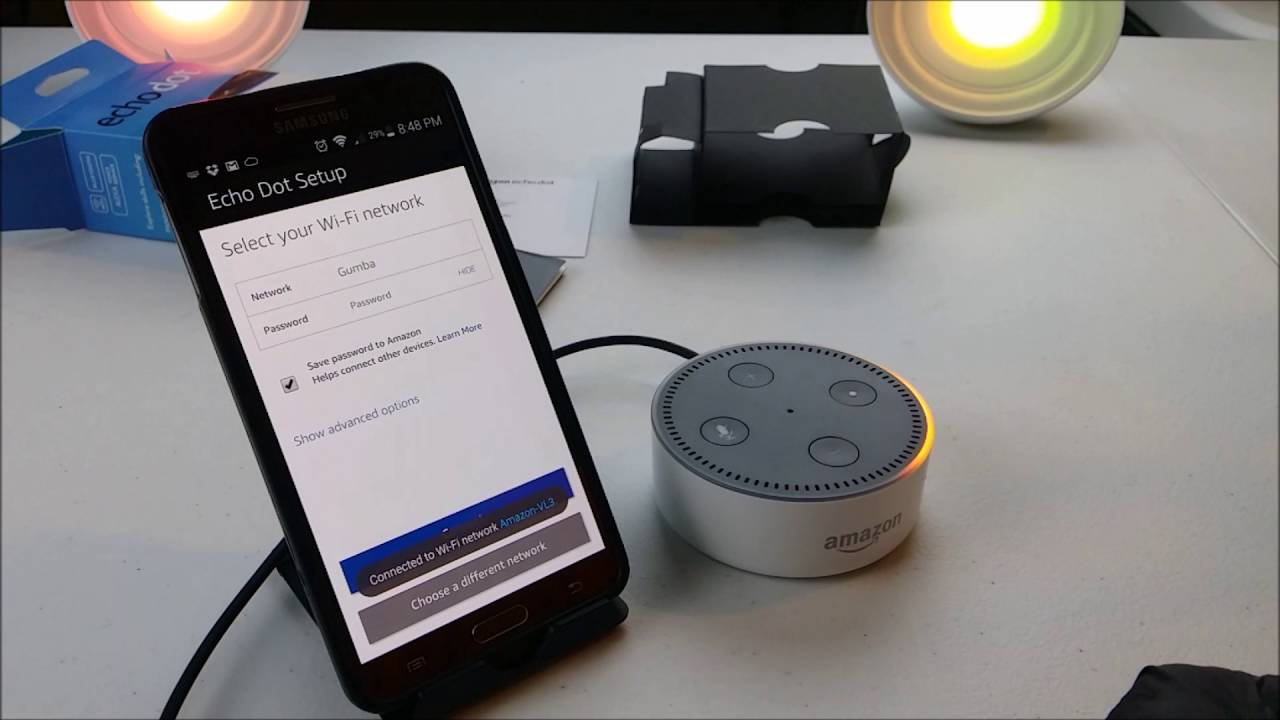 setting up amazon echo dot using android ios app. Black Bedroom Furniture Sets. Home Design Ideas